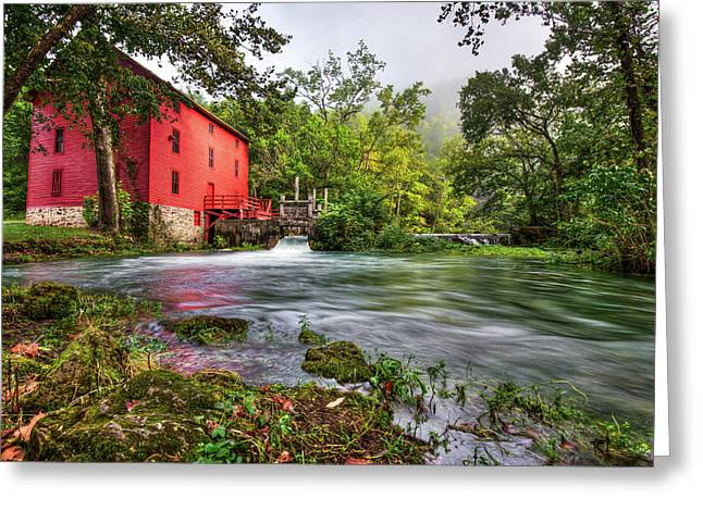 Waters Of Alley Spring Mill  Greeting Card by Gregory Ballos