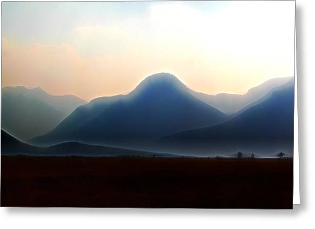 Waterton - Mountain Panorama Greeting Card by Stuart Turnbull
