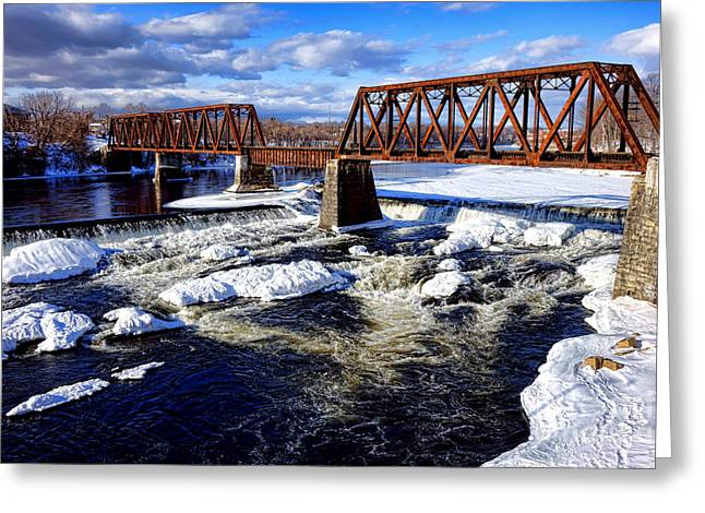Waterville Maine Central Railroad Bridge Greeting Card