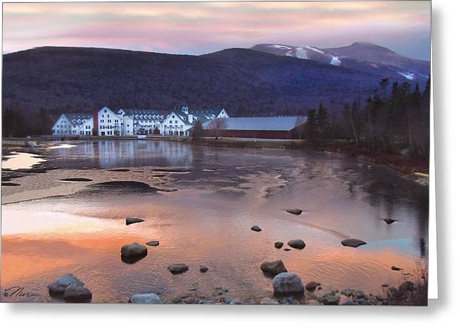 Waterville Valley Sunset Greeting Card