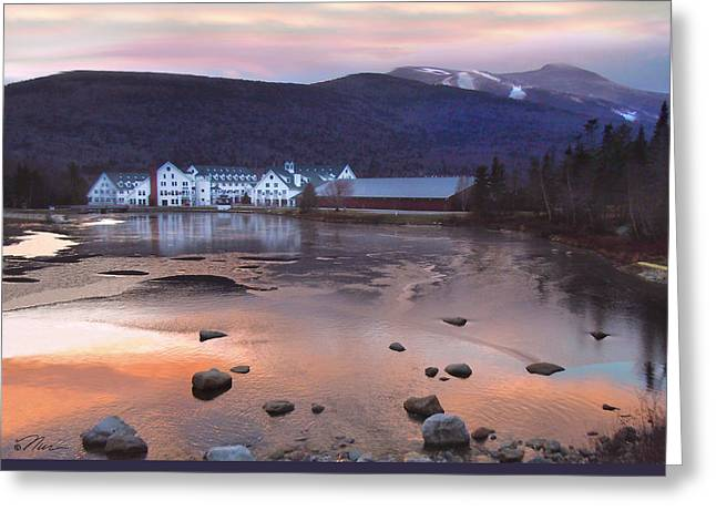 Waterville Valley Sunset Greeting Card by Nancy Griswold