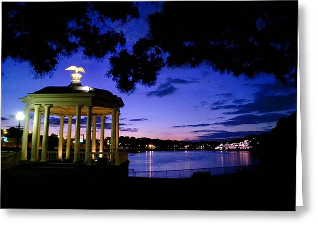 Waterworks At Night Greeting Card