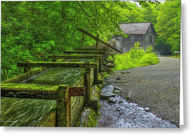 Greeting Card featuring the photograph Waterworks Mingus Mill Mingus Creek Art  Great Smoky Mountains Art by Reid Callaway