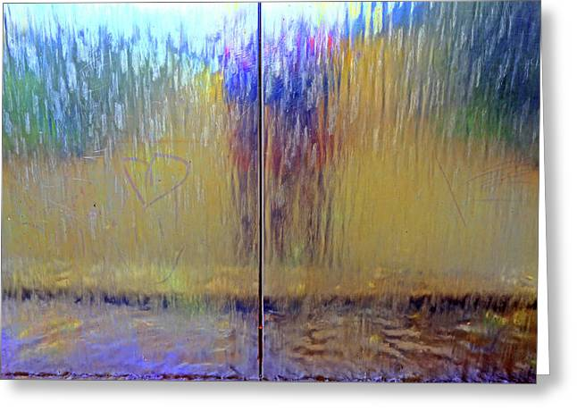 Greeting Card featuring the photograph Watery Rainbow Abstract by Nareeta Martin