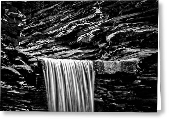 Watkins Glen Cavern Cascade Waterfall #4 Greeting Card by Stuart Litoff