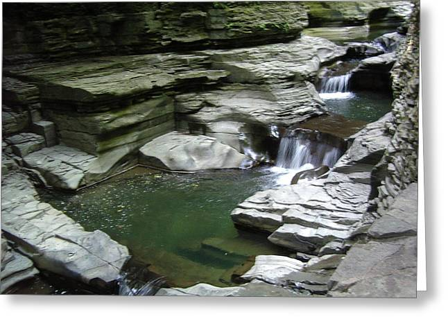 Greeting Card featuring the photograph Watkins Glen State Park by John Schneider