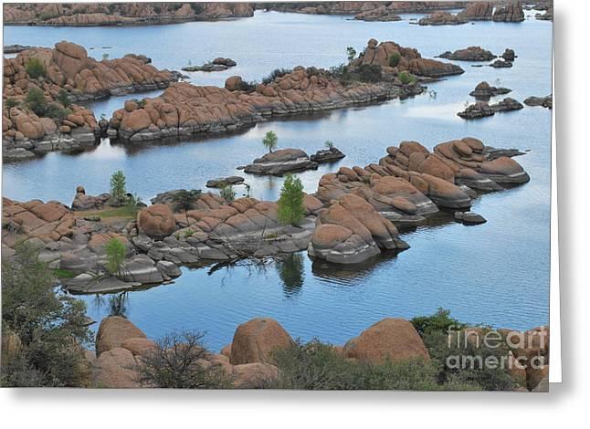 Watson Lake Arizona Fingerlings Number 2 Greeting Card by Heather Kirk