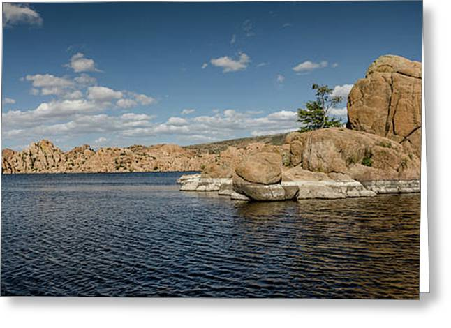 Watson Lake Panorama Greeting Card