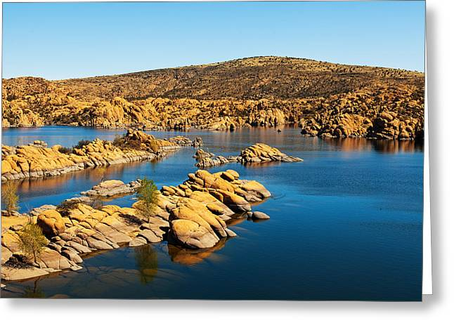 Watson Lake - Prescott Arizona Usa Greeting Card by Susan Schmitz