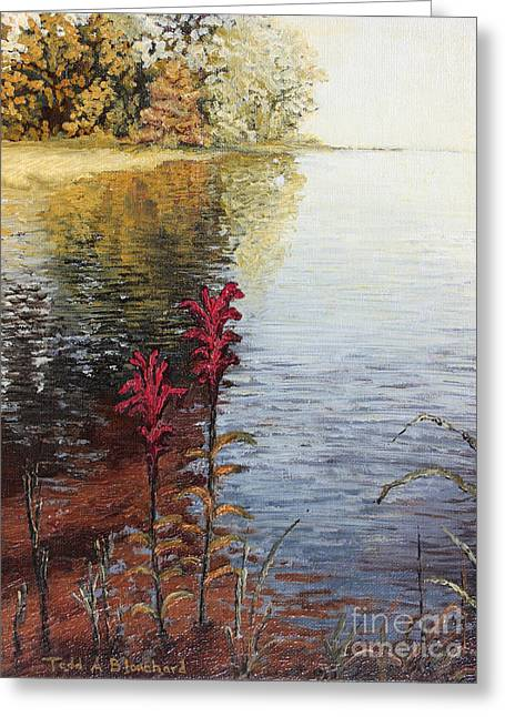 Greeting Card featuring the painting Watts Bar Lake Rockwood Tn by Todd Blanchard