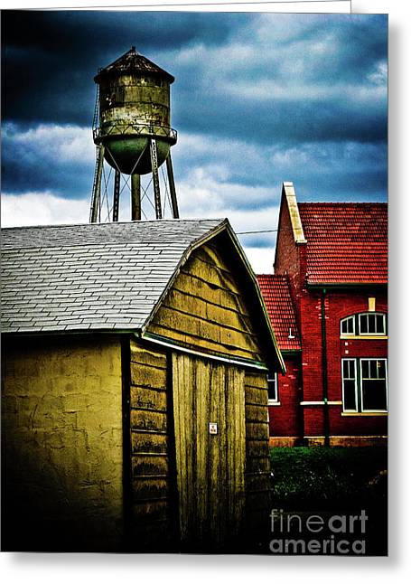Waurika Old Buildings Greeting Card by Toni Hopper