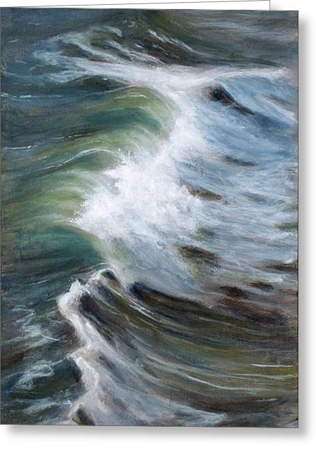 Wave 75 Greeting Card by Christopher Reid