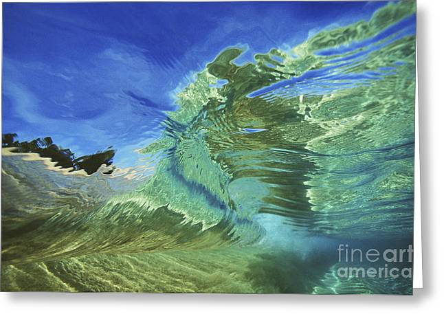 Wave Abstract Greeting Card by Vince Cavataio - Printscapes