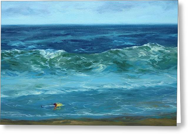 Recently Sold -  - New England Ocean Greeting Cards - Wave Action Greeting Card by Lisa  Ridabock