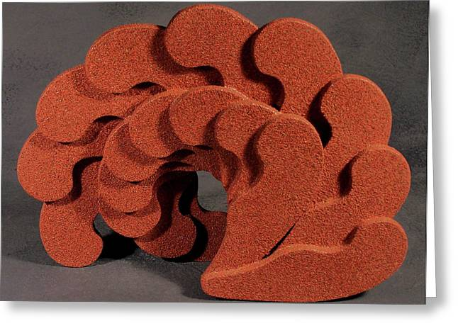 Actions Sculptures Greeting Cards - Wave Action Greeting Card by Lonnie Tapia