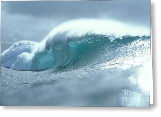 Wave And Spray Greeting Card by Vince Cavataio - Printscapes
