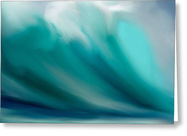 Wave  Greeting Card by Anthony Fishburne