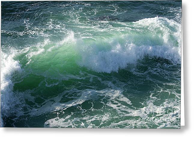 Wave At Montana De Oro Greeting Card
