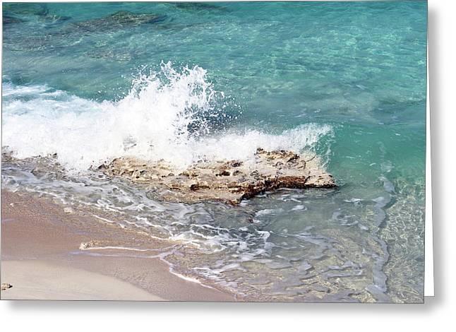 Gentle Wave In Bimini Greeting Card