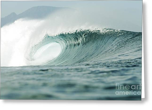 Wave Breaking Greeting Card by Vince Cavataio - Printscapes