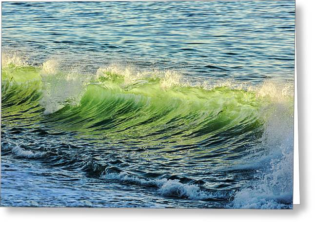 Wave Crest Greeting Card by Kelley King