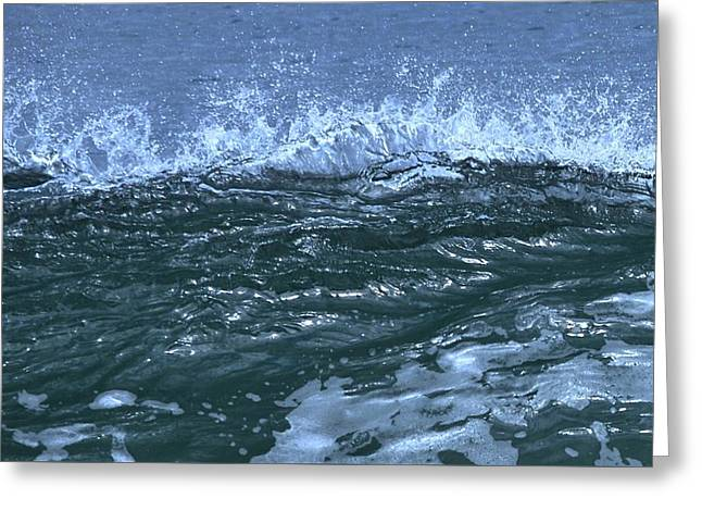 Wave Cresting At Scusset Beach Greeting Card by Bill Driscoll