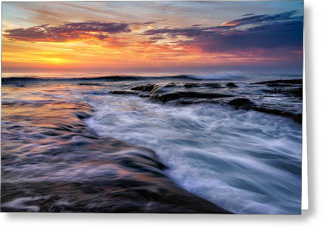 Wave Greeting Card by Doug Oglesby
