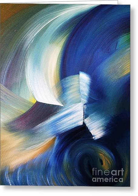 Wave Greeting Card by Ellen Young