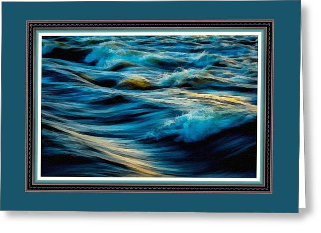 Wave Fantasia L B With Alt. Decorative Ornate Printed Frame. Greeting Card by Gert J Rheeders