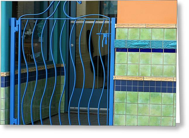 Wave Gate With Tile Greeting Card by Art Block Collections