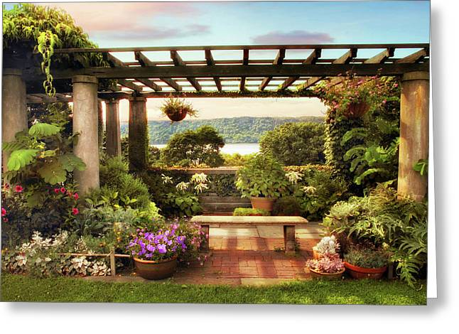 Wave Hill Pergola Greeting Card