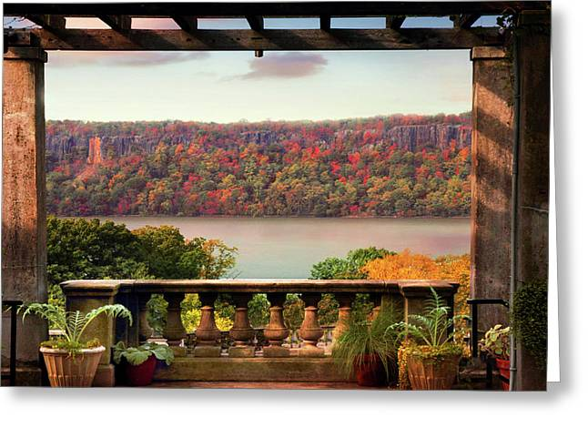 Wave Hill Pergola View Greeting Card
