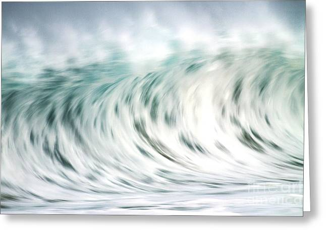 Wave In Motion Greeting Card by Vince Cavataio - Printscapes
