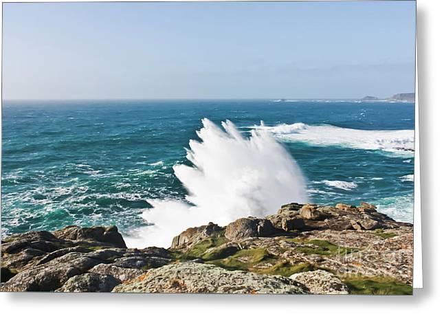 Wave Like Quartz Greeting Card by Terri Waters