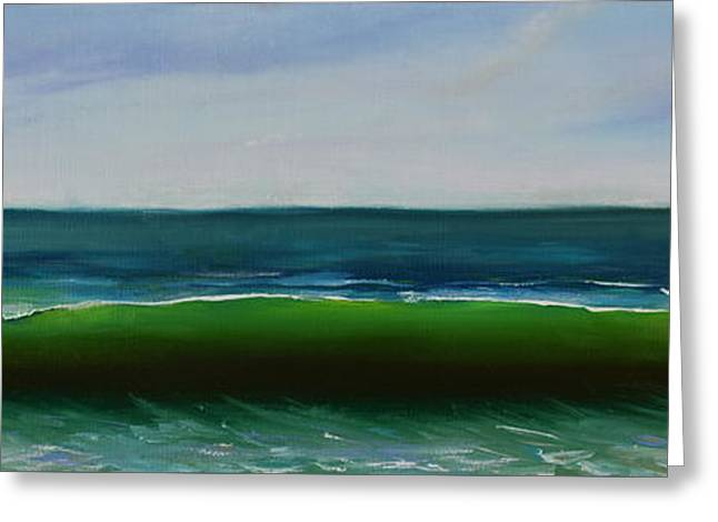 Greeting Card featuring the painting Wave by Mary Scott