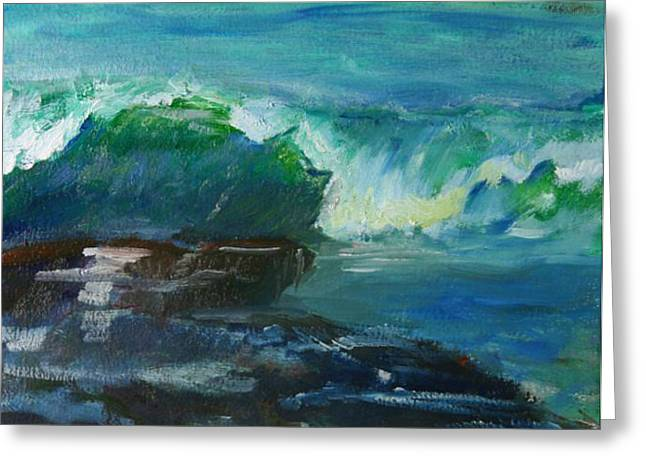 Greeting Card featuring the painting Wave Number One by Jeremy McKay