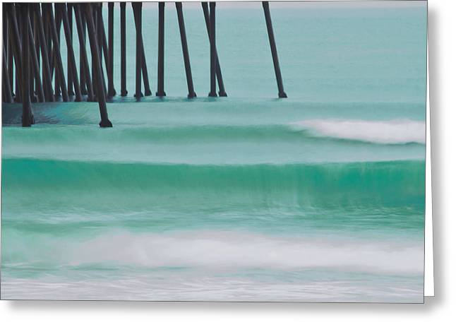 Wave On Wave Greeting Card by Marnie Patchett