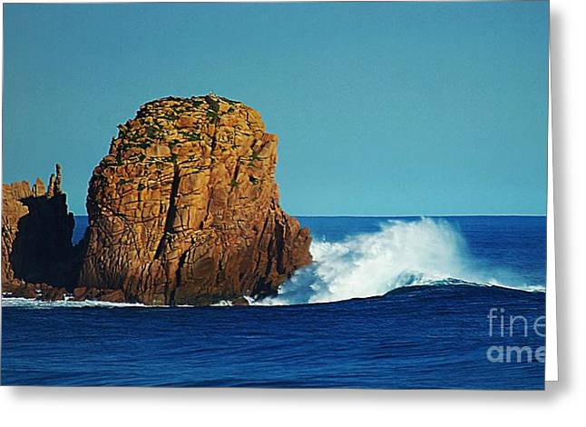 Wave Power Greeting Card by Blair Stuart