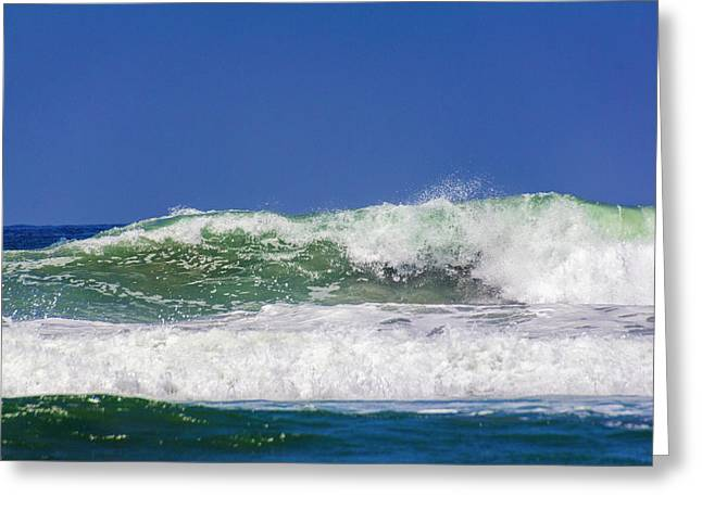 Greeting Card featuring the photograph Wave Rolling To The Beach by Randy Bayne