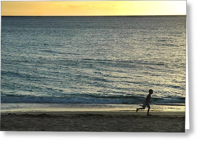 Wave Runner Greeting Card by Dan Holm