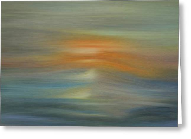 Wave Swept Sunset Greeting Card by Dan Sproul