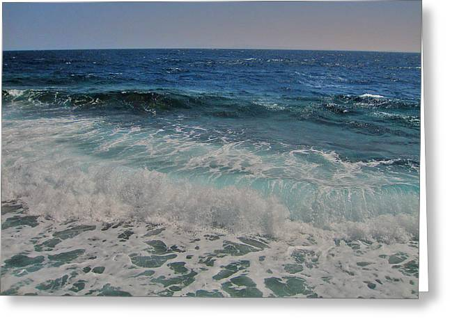 Wave Texture. Sea. Greeting Card by Andy Za