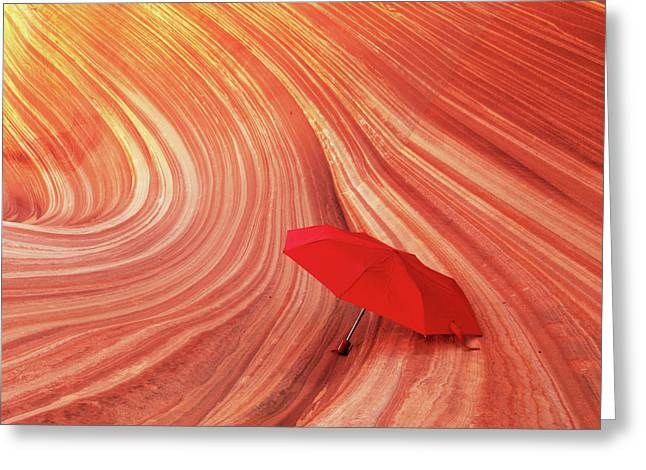 Greeting Card featuring the photograph Wave Umbrella by Norman Hall