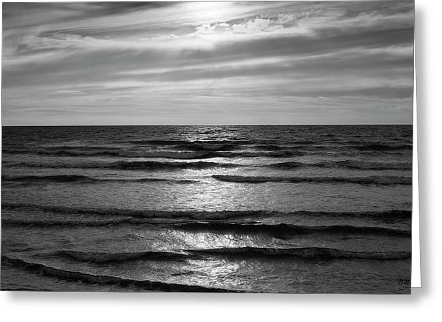 Greeting Card featuring the photograph Wave Upon Wave I Bw by David Gordon