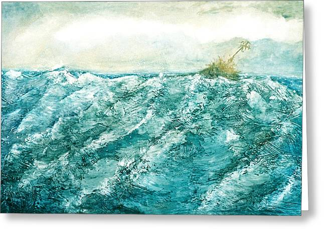 wave V Greeting Card by Martine Letoile