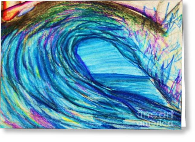 Wave Variation Greeting Card by Jamey Balester