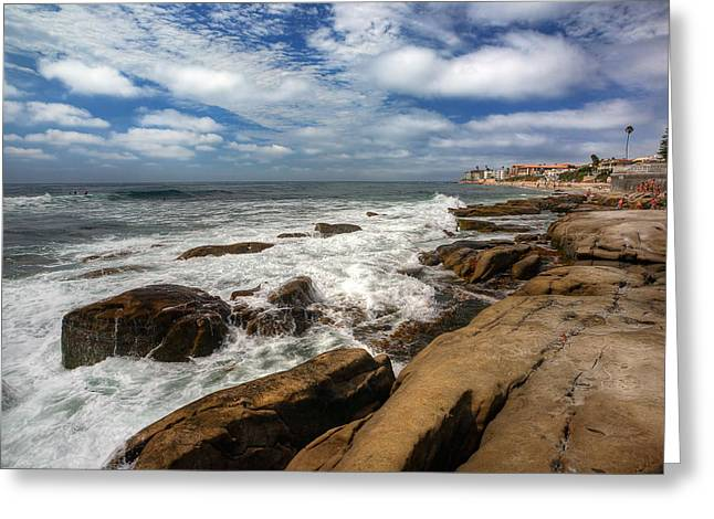 Wave Wash Greeting Card by Peter Tellone