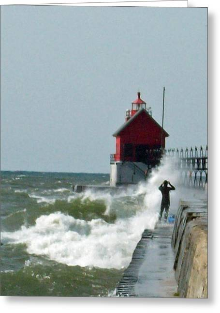 Wave World Greeting Card by Michelle  BarlondSmith