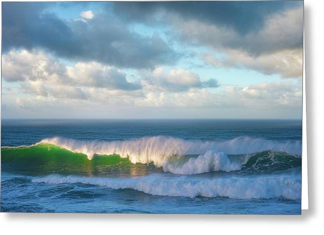 Greeting Card featuring the photograph Wave Length by Darren White