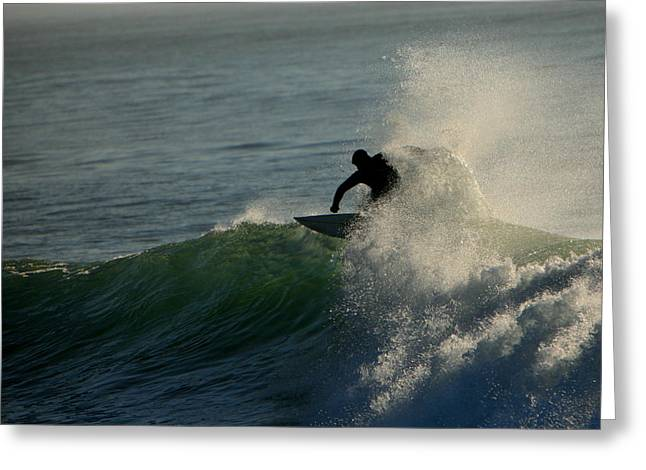 Waverider Greeting Card by Mike Coverdale